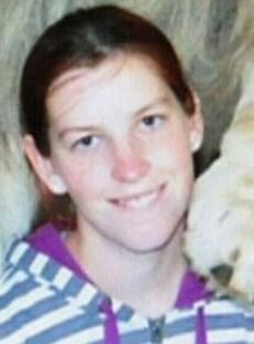 Photo of Erin Crabtree, a teenage girl with pale skin and dark brown hair, wearing a hoodie.